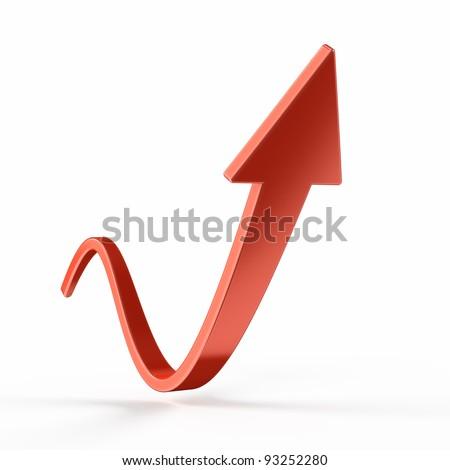 Rising arrow - stock photo