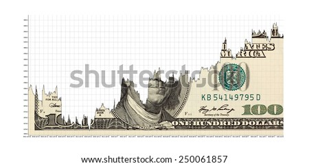 rising dollar - stock photo