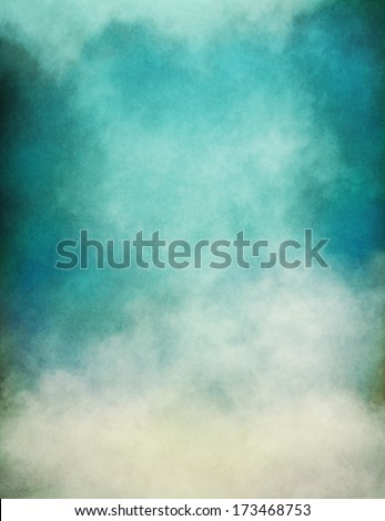 Rising fog and clouds on a paper background.  Image displays significant paper grain and texture at 100 percent. - stock photo