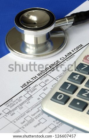Rising medical cost in the United States - stock photo