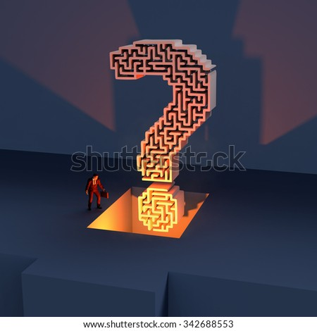 rising question - stock photo