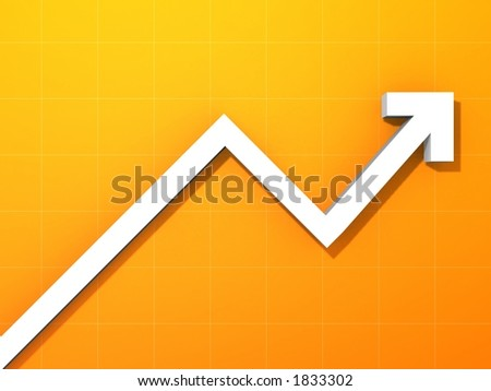 rising statistic - stock photo