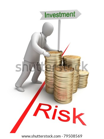 Risk in Investment, 3D conept - stock photo