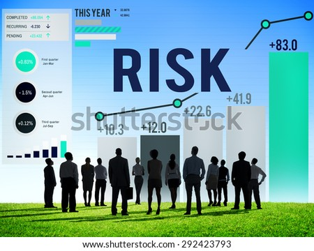 Risk Management Business Investment Unsteady Concept - stock photo