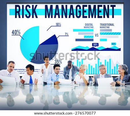 Risk Management Organization Security Safety Concept - stock photo