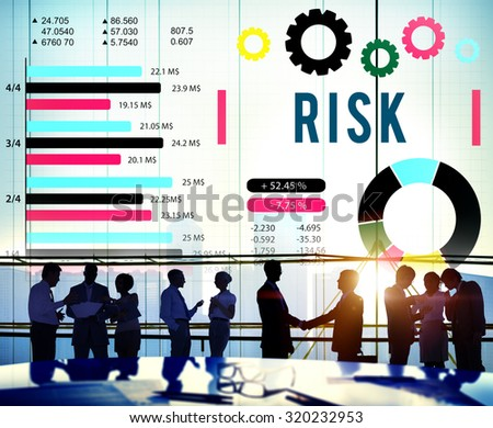 Risk Management Unsteady Safety Security Concept - stock photo