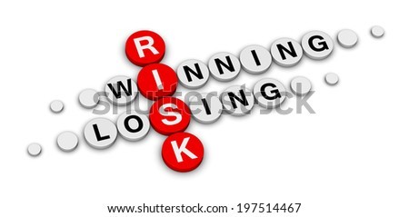 risk win or lose crossword - stock photo