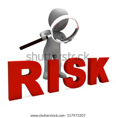 Risky Character Showing Dangerous Hazard Or Risk - stock photo
