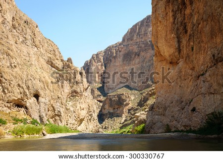 River at Big Bend National Park - stock photo