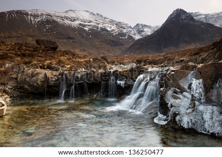 River at Coire na Creiche, Glenbrittle, Isle of Skye - stock photo