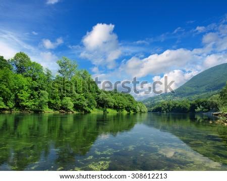 river Drina - stock photo