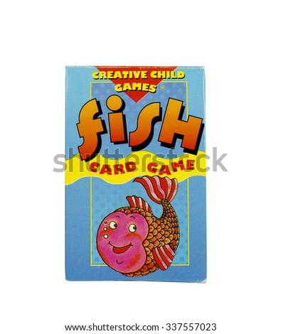 RIVER FALLS,WISCONSIN-NOVEMBER 09,2015: A box of Go Fish cards for children. This game is distributed by Playmore Incorporated. - stock photo