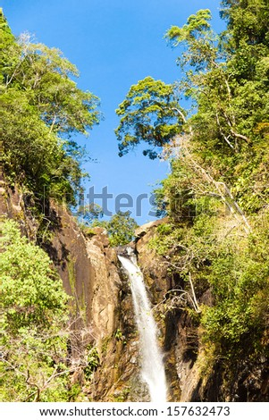 River Flowing Waterfall Divine  - stock photo
