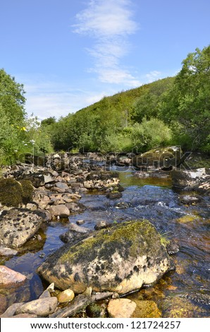 River in Scotland -  Loch Lomond and Trossachs National Park - stock photo