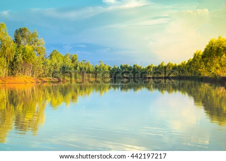 River in Thailand - stock photo