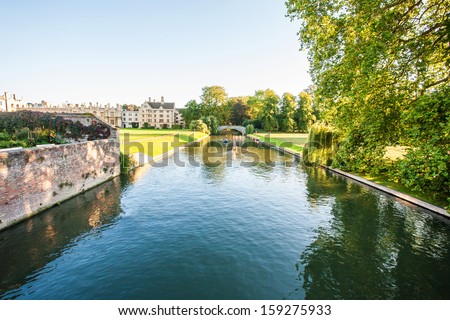 River in the park - stock photo