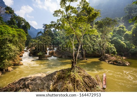river in Vietnam - stock photo