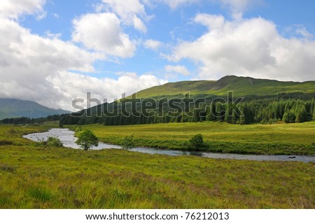 River Orchy , West Higland Way, Scotland - stock photo