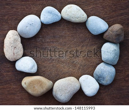 river stones - stock photo
