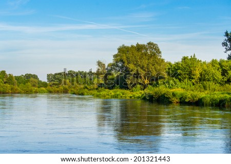 Riverbank - stock photo