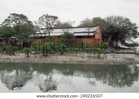 riverside - stock photo
