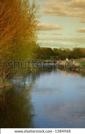 Riverside, Ennistymon, Co. Clare, Ireland - stock photo