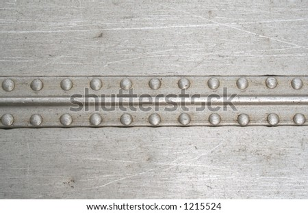 Rivets on a line - stock photo