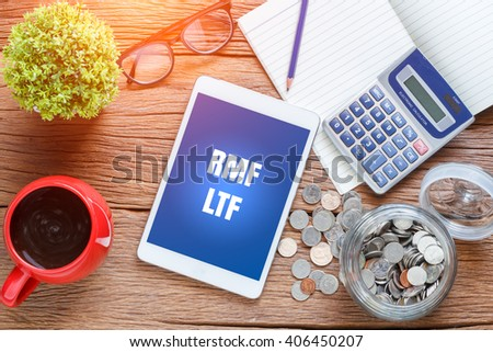 RMF, LTF .text on the pc tablet,