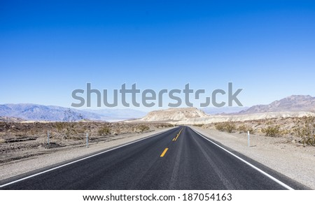 road and desert - stock photo