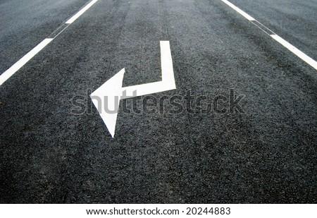 road arrow - stock photo