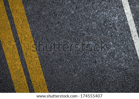 Road asphalt texture with separation lines - stock photo