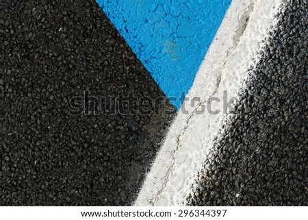 Road asphalt texture with separation lines / black asphalt texture background / Asphalt as abstract background or backdrop - stock photo