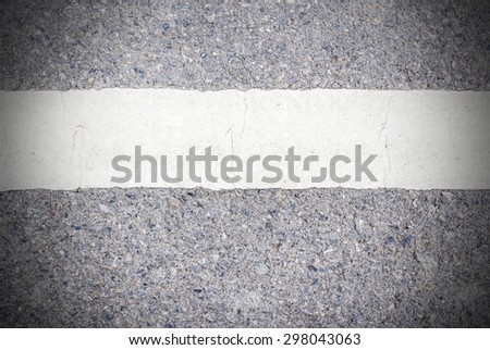 Road asphalt texture with white line for any design - stock photo