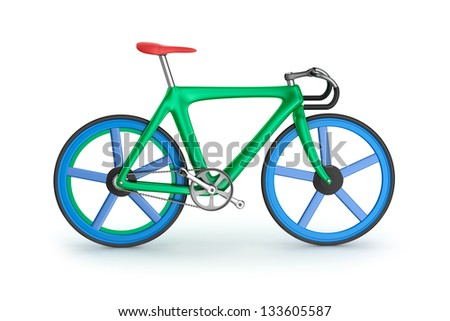 Road bicycle. My own design. - stock photo