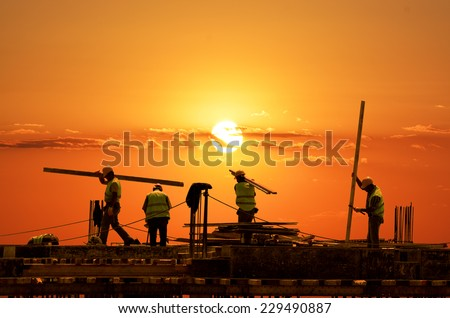 Road Construction - stock photo