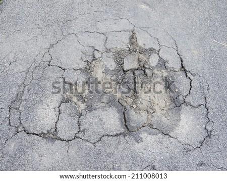 Road Damage - stock photo
