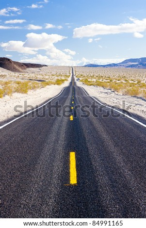 road, Death Valley National Park, California, USA - stock photo