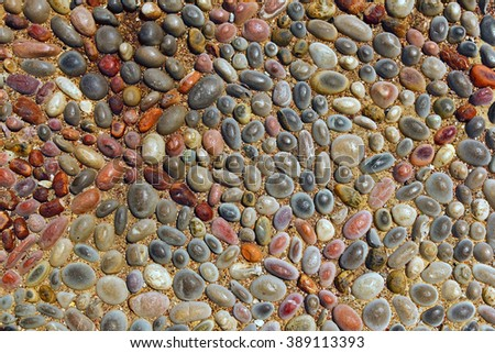 road from small stones. decorative pebble background  - stock photo