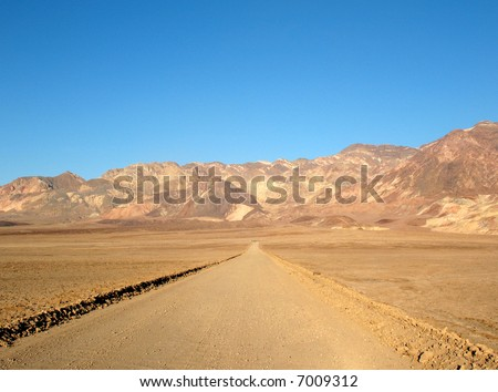 Road in Death Valley, California - stock photo