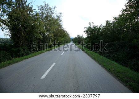 road in italy - stock photo