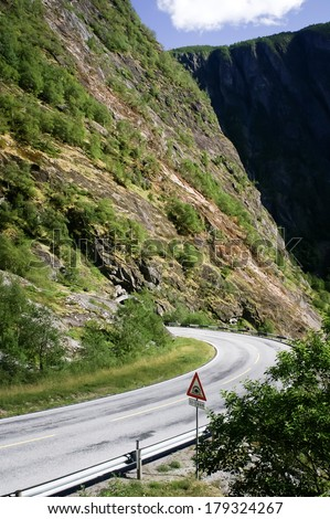 Road in mountains, tunnel - stock photo