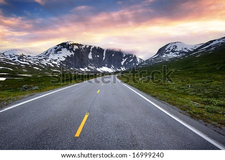 Road in nature - stock photo