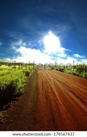 Road in Senegal, Africa - stock photo