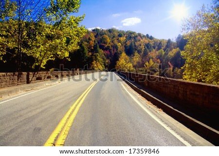 Road in the Appalachians - stock photo
