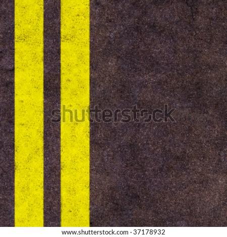 Road lines - stock photo