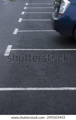 road marking parking - stock photo