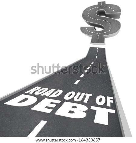 Road Out of Debt Money Help Counseling - stock photo