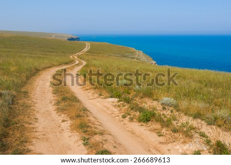 road over a sea - stock photo
