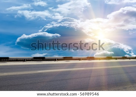 Road   protective  metal - stock photo