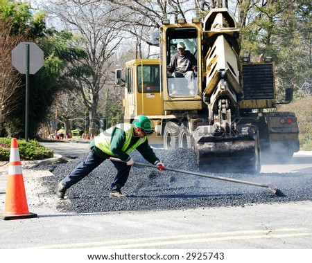 road repair - stock photo